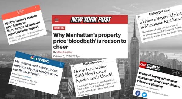 曼哈頓公寓價格市場放緩。