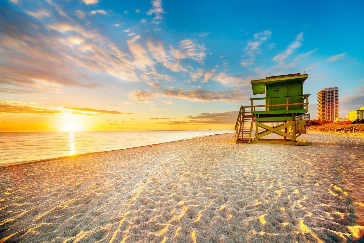 南海灘, 邁阿密日落